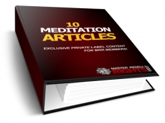 10 Meditation PLR Articles