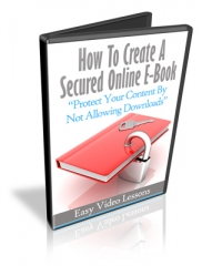 How to Create A Secured Online Ebook - PLR Upgrade