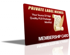 Private Label Niches - Sister Membership - Discontinued