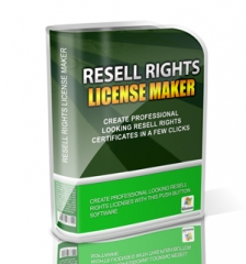 Resell Rights License Maker - Rebrandable Software