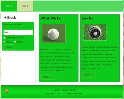Golf Website Templates 2 PLR - Master Resell Rights, Private Label ...